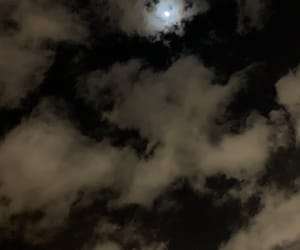clouds, moon, and moonlight image