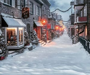 canada, christmas lights, and winter image