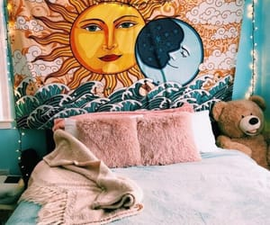 bedroom decor, boho, and colorful image