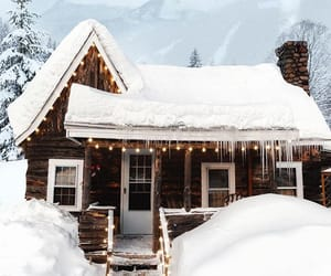 cabin, New Hampshire, and snow image