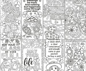 bookmarks, hearts, and coloring image
