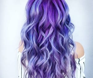art, hair, and purple image