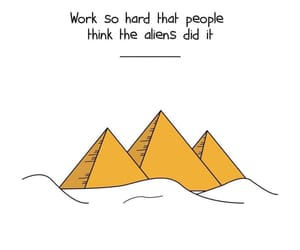 motivation, quotes, and pyramid image