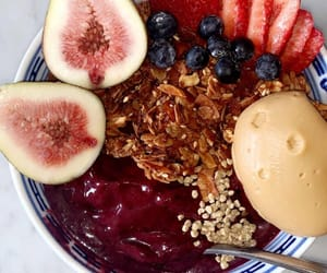 breakfast, healthy, and smoothie bowl image