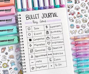 bullet, weekly spread, and ideas image