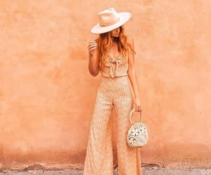 jumpsuit, orange, and style image