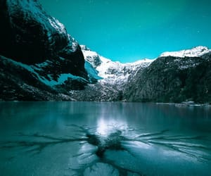 arctic, landscape, and turquoise image
