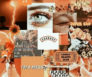 Collage, wallpapers, and orange image
