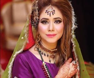 bride, fashion, and mehndi image