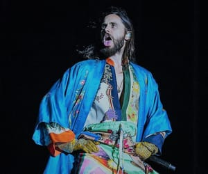 jared leto, 30 seconds to mars, and tongue out image