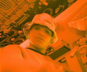 Nick Mara, orange, and prettymuch image