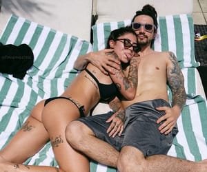 casal, Tattoos, and couple image