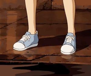 anime, river, and boy image