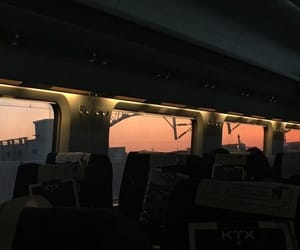 dark, sky, and train image