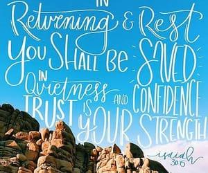 quietness, salvation, and strength image