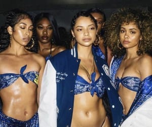 blue, fashion, and baddies image