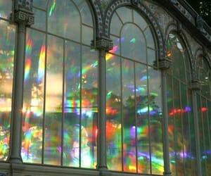 aesthetic, rainbow, and retro image