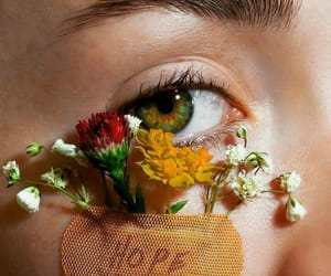 flowers, hope, and eyes image