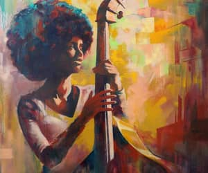 art, black art, and black woman image