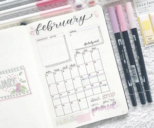planner, school, and study image