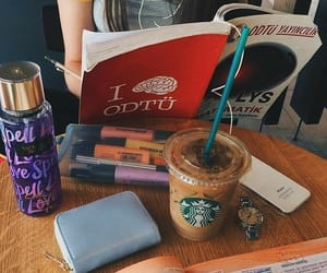 coffee, notes, and school image