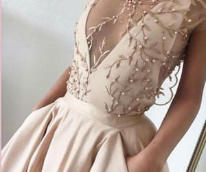 fashion, pink prom dress, and girl image