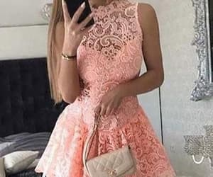 prom dress, homecoming dress, and lace homecoming dress image