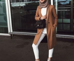 chic, camel coat, and fall image