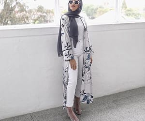 fashion, hijab, and floral image