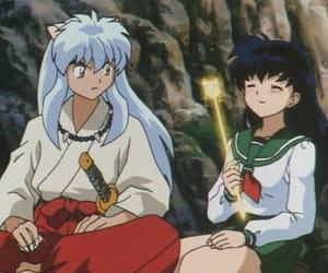 anime, kagome, and inuyasha x kagome image