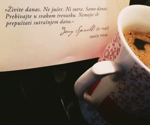 book, coffee, and enjoy image