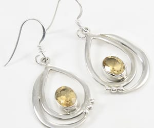 citrine, earring, and jewellery image