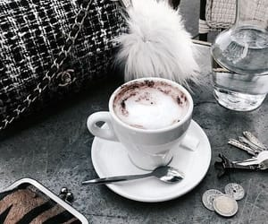 accessories, bag, and coffee art image