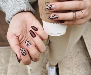 nails, beautiful, and love image