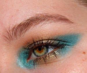 eyeshadow, green, and teardrops image