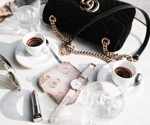 coffee, fashion, and gucci image