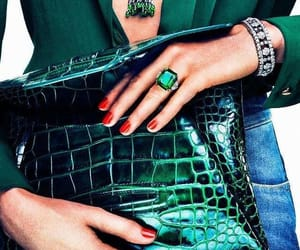 emerald, fashion, and snake image