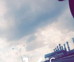 driving, snapchat filters, and rainy image