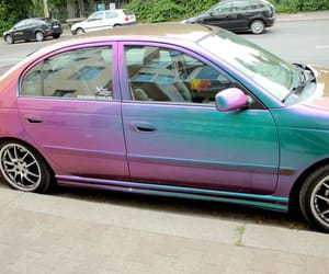 car, paint, and pink image