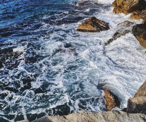 art, beach, and foam image