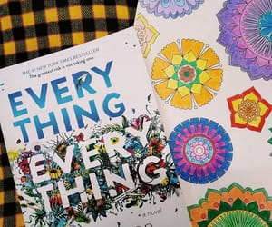 book, everything everything, and coloring image