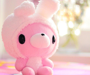 bunny, pink, and soft image