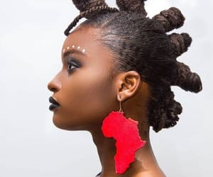 earring, hair, and hair style image