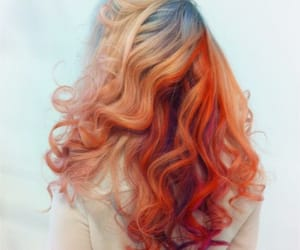 colors, curls, and dyed hair image