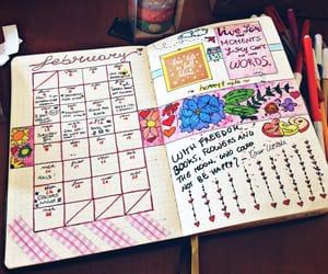 calendar, creative, and journal image