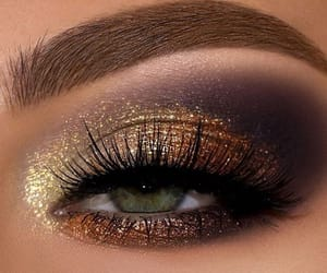 beautiful, lashes, and make up image