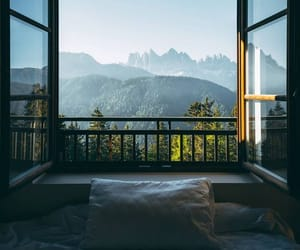 nature, view, and bedroom image