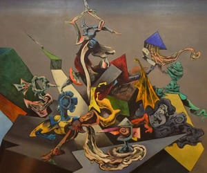 modern art, european art, and surrealism painting image