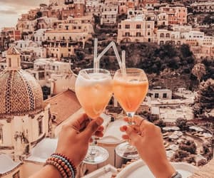 city, drink, and italy image