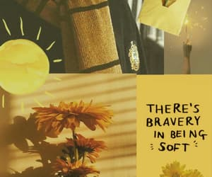 aesthetic, yellow, and Collage image